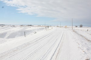 Gravel road South of Badlands SD January 2013