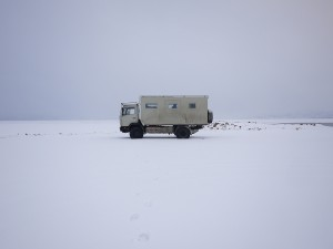 Camp by Bear Lake, ID January 2013