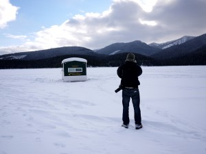 Zoltan taking photo. North of West Yellowstone, MT January 2013