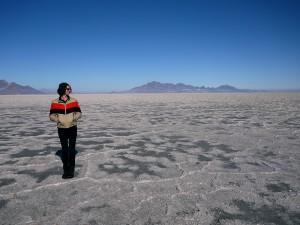 Bonneville Salt Flats. Utah February 2013
