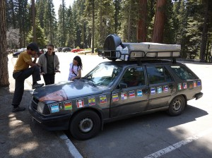 Meeting the Argentinian couple the 3rd time. Sequoia National Park May 2013