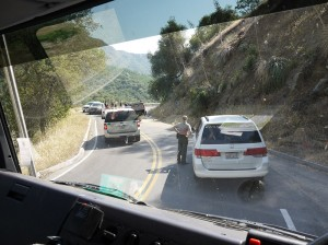 Leaving Sequoia National Park May 2013