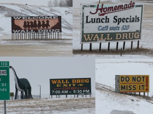 SD Wall Drug signs