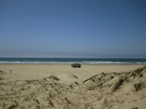 Camp on Pismo Beach California April 2013