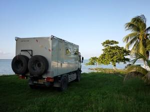 Sarteneja camp on the beach. Sarteneja, Belize November 2013