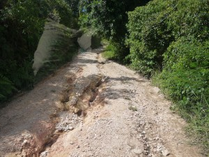 Road condition to Barton Creek November 2013