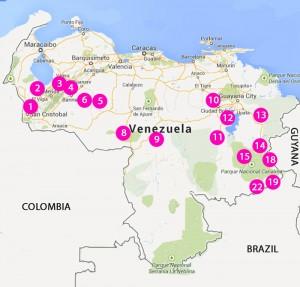 VENEZUELA campspots
