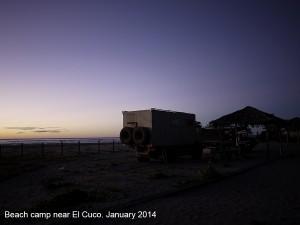 Campsite near El Cuco January 2014