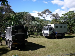 Coffee plantation campsite with swimming pools near Perquin January 2014