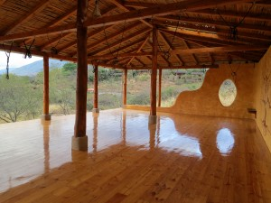 yoga studio at the hostel