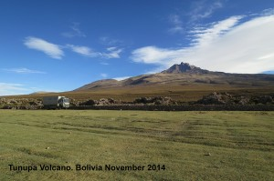 228 Tunupa Volcano with Vicunas BOLIVIA